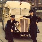 Mark Bailey (Right) and his fellow crew Member, Jack Craven, pictured at Wood Green Fire Station in 1961