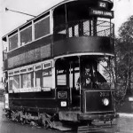 LT tram route 23 at Ferry Lane, this route was replaced by trolleybus route 623 in 1936