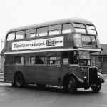 Trolleybus replacement outside Tottenham station