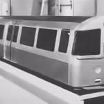 1964 scale model of the proposed new rolling stock
