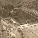 Overhead view of the recently built factory ? early 1900s