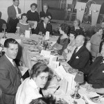 Dinner and dance, Ernie Worman on the left