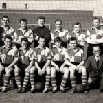 Pando football club with manager Pat Brignell ? bottom right kneeling