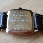 This one was presented to Mr W G Butler for long and loyal service