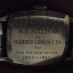 This one was presented to Mr A R Sullivan long and loyal service