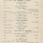 Dinner invitation 1905