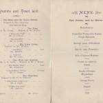 Dinner invitation 1904