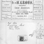 Typical invoice 1907