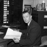 Joe Sloan (Transport manager) in the London Road (Glasgow) office of Merchandise Transport circa 1963/64