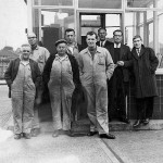 From left to right, Danny Alexander, Eddie Cocurran, Ike McMillan, Joe Sloan, ?, ?, ?, ?