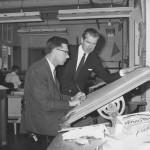 Chief designer Cyril Rostgaard (standing), 1966