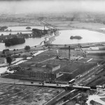The Harris Lebus Cabinet Works and environs, Tottenham Hale, from the north-west, 1933.