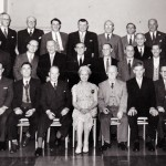 Harold Mitchell retirement party group, 1965