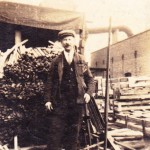 Arthur Thorn at work 1926. Top of No 5 Ave Charlie Hollands Crate Maker Shed (Hollands Villa)