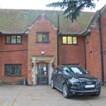Recent picture of 'Hawkhurst' the old office building at Woodley